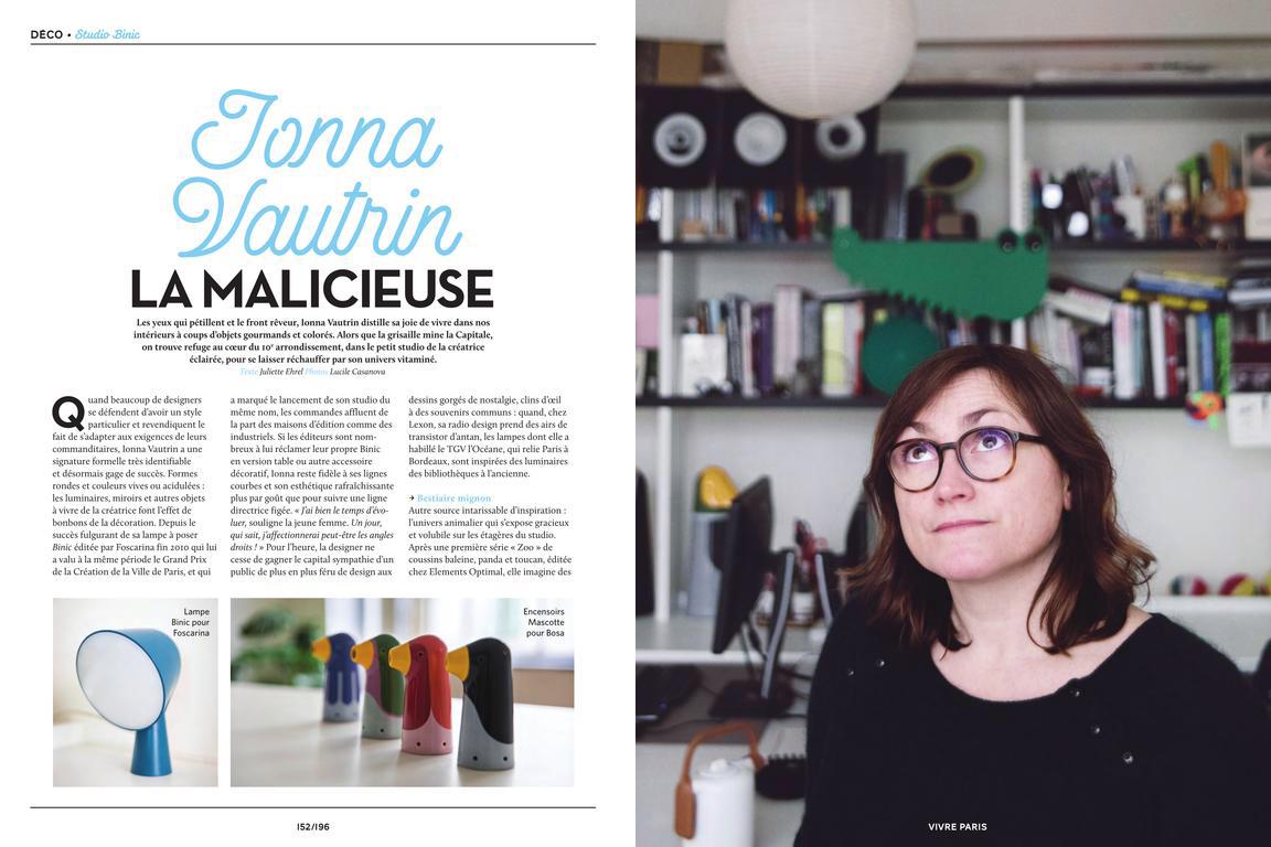 Publication  Vivre Paris, Mars 2018